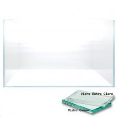 Aquario 600X450X300 mm vidro extra claro