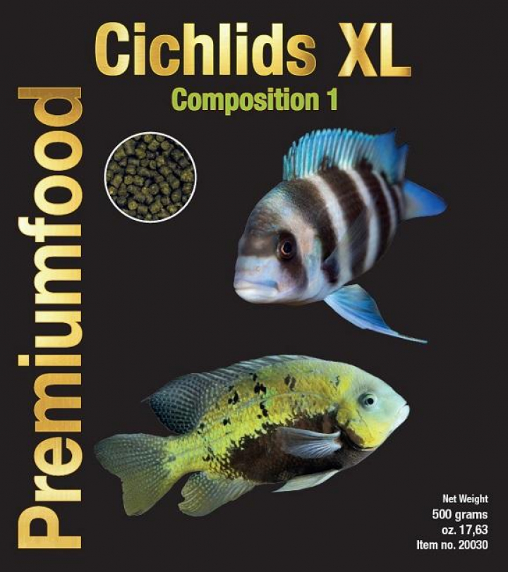 Discusfood Cichlids XL Premium Granulat Composition 1-500grs
