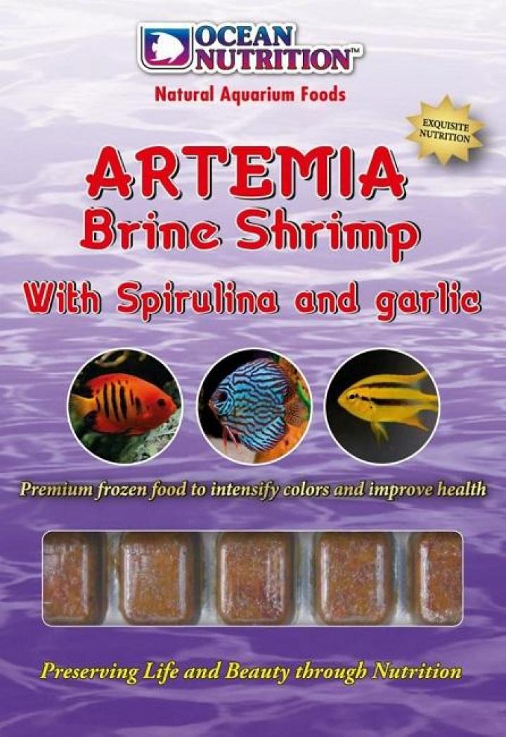Artemia c spirulina e alho 454 grs