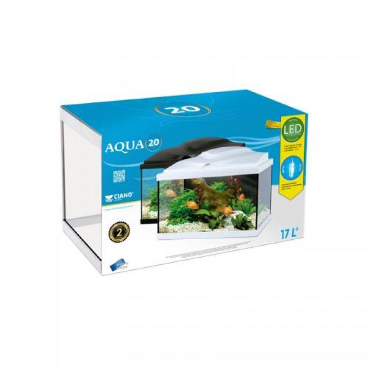 Aqua 20 Preto c/ filtro interior & iluminação Led