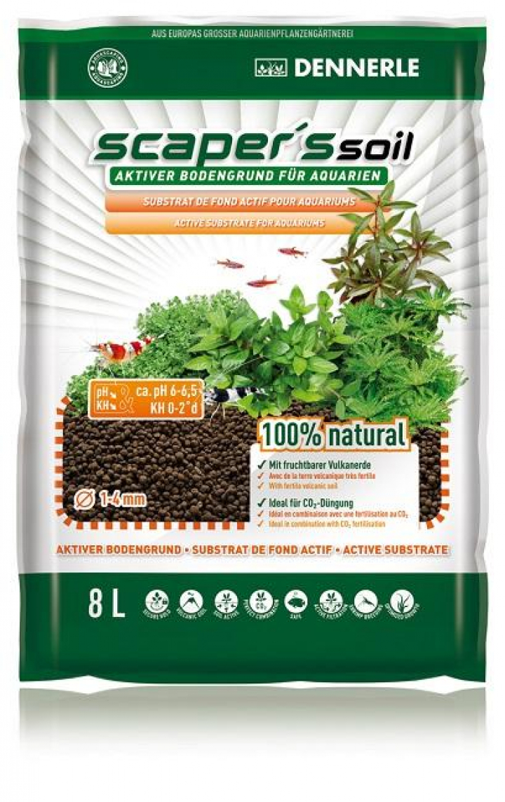 Dennerle - Soil Black Color Type 1-4mm, 8L