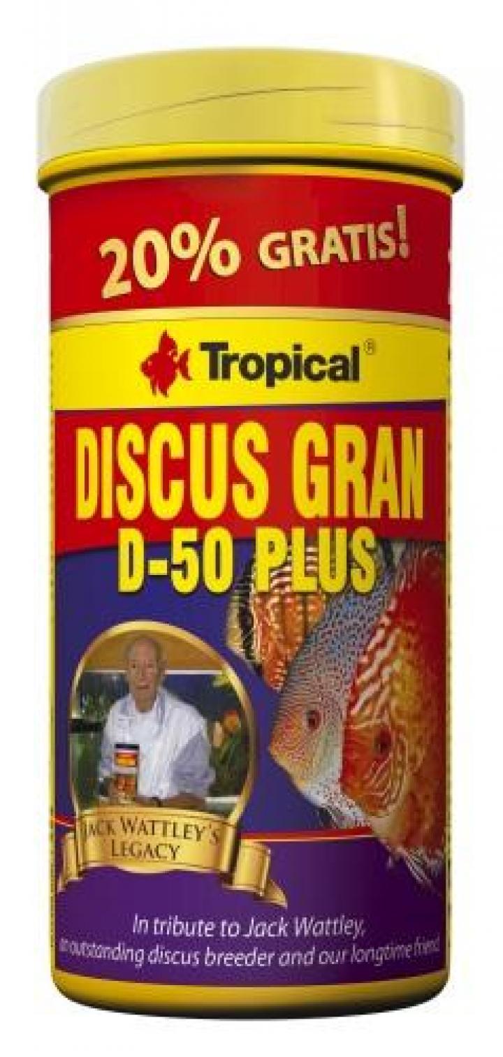 Tropical DISCUS GRAN D-50 PLUS 250 ML+20%grátis