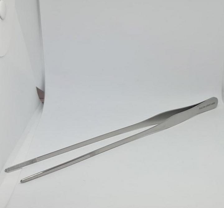 stainless steel-Pinças linha fina reta 25cm