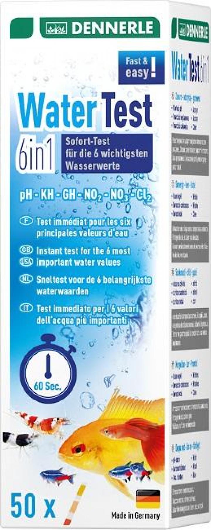Dennerle - Aquatics - water test 6 in 1 - 50 pcs.